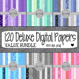 Deluxe Digital Papers: VALUE BUNDLE Colorful Scrapbook Pap