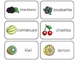 Deluxe Fruit and Vegetable Printable Flashcards. Preschool- Kindergarten Math.