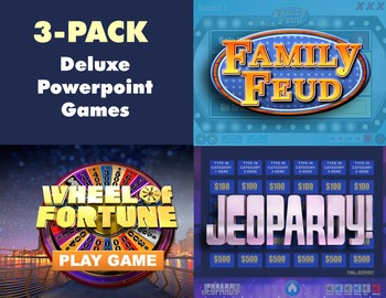 Deluxe Powerpoint Game Shows 3 Pack - Mac & PC Compatible