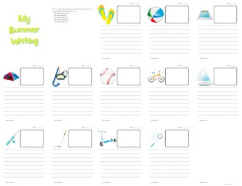 Deluxe Summer Writing Booklet- Primary Printable