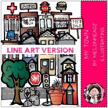 My Town by Melonheadz LINE ART