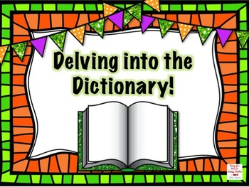 Delving into Dictionary Skills Task Cards