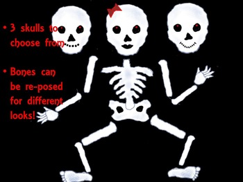 Dem Bones are a Rockin! - Skeleton Clip Art - Personal and Commercial use