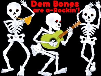 Dem Bones are a Rockin! - Skeleton Clip Art - Personal and