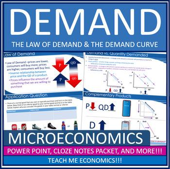 Economics - Demand, Law of Demand, Demand Curve Bundle Power Point