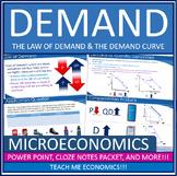 Demand, Law of Demand, Powerpoint, Note Packet, Quizzes/Tests, Economics