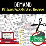 Demand Picture Puzzle, Test Prep, Unit Review, Study Guide
