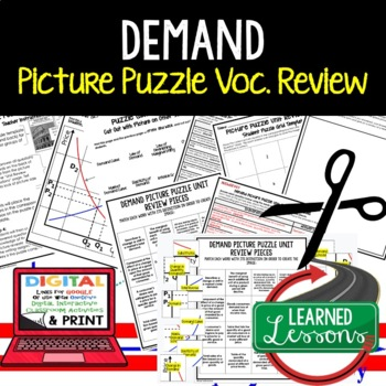Demand Picture Puzzle, Test Prep, Unit Review, Study Guide