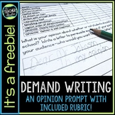 Demand Writing Prompt Freebie:  Opinion Writing