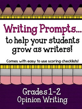 Demand Writing Prompt Set:  Opinion Writing Primary Edition