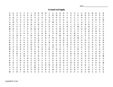 Demand and Supply Vocabulary Word Search for Economics