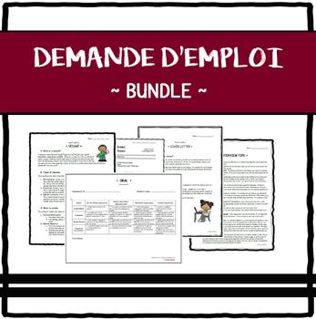 "Demande d'emploi (""Job application"") Bundle"