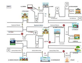 Demander, donner, suivre des directions sur une carte French Immersion (#50)