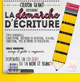 Démarche d'écriture (Crayon géant)