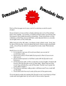 Demasiado lento - Spanish -IR verbs