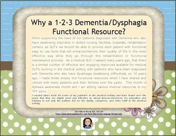 Dementia/Dysphagia: 1-2-3 Functional Resource
