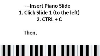 Demo Piano for PowerPoint