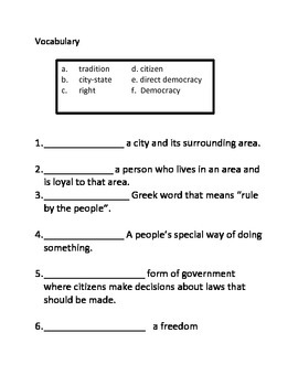 Democracy ASSESSMENT-3rd Social Studies