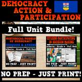 Democracy: Action and Participation - Alberta Grade 6 Social Studies Bundle