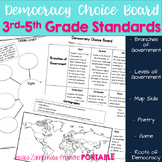 Democracy Choice Board: 3rd-5th Grade Standards