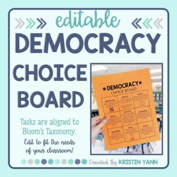 Democracy Choice Board - Editable