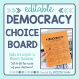 Democracy Choice Board - Editable