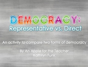 Government: Democracy Comparing Activity
