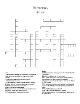 Democracy Crossword Puzzle