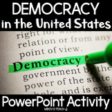 Democracy PowerPoint and Google Slides for US Government