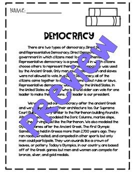 Democracy Reading Passage
