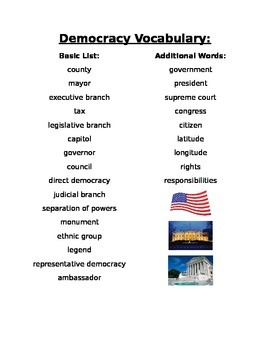 Democracy Vocabulary