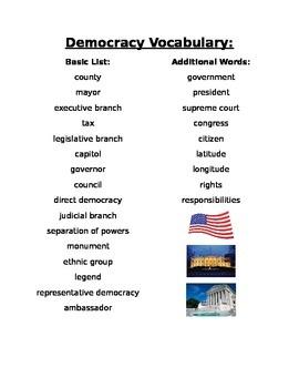 Democracy Vocabulary