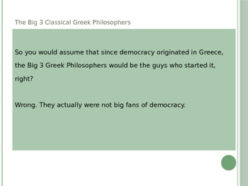 Democracy and Greek Philosophy GATE-- Is democracy the best of bad options?