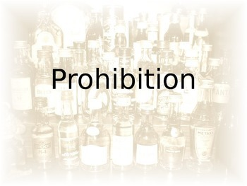 Prohibition - Democracy in Action