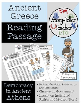Democracy in Athens Reading Passage Ancient Greece Government