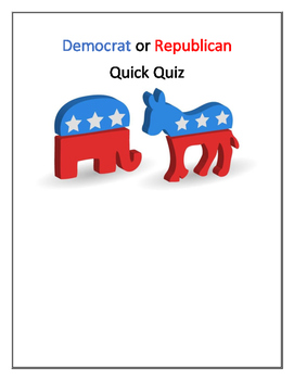 Democrat or Republican Quiz