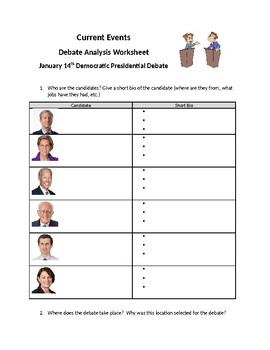 Democratic Presidential Debate Viewing Guide
