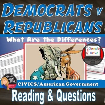 Democrats v Republicans – What are the Differences? Print and Digital