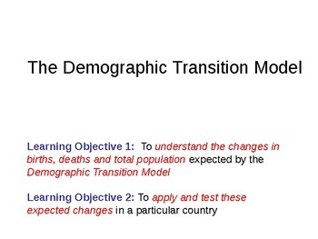 Demographic Transition Model - PowerPoint