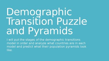 Demographic Transition Puzzle Foldable