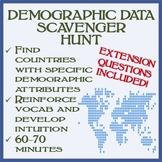 Demographics Data Scavenger Hunt - Student Favorite!