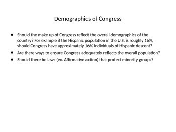 Demographics of Congress vs. Overall Population (2012)
