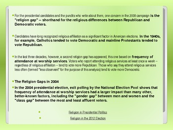 Demography, Ideology, and Religion in the American Electorate