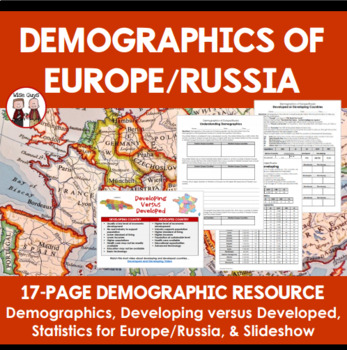Demography of Europe and Russia Learning Activity