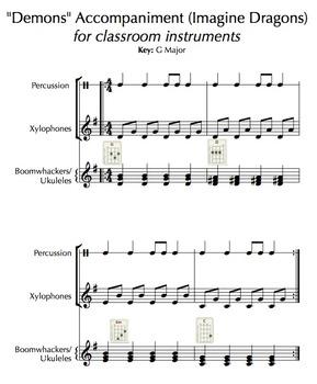 """Demons"" (Imagine Dragons) Classroom Instrument Accompaniment"