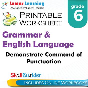 Demonstrate Command of Punctuation Printable Worksheet, Grade 6