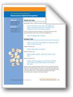 Demonstrates Alphabet Recognition (assessment)