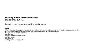 Demonstrating Ratios in 6 ways: Interactive