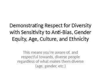 Demonstrating Respect for Diversity
