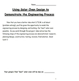 Demonstrating The Engineering Process Through Solar Oven Design